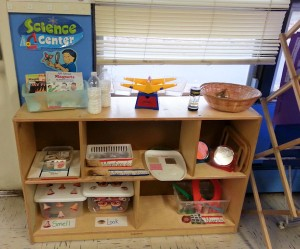 The children are able to question and learn in the science center as they explore their classroom during their day.